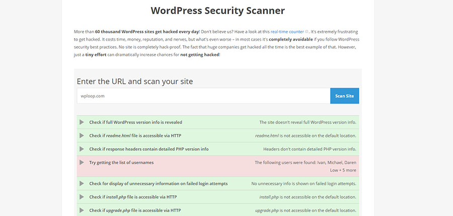 WordPress Security Scanner
