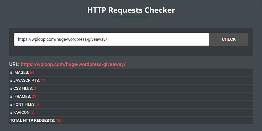 Reduce the number of HTTP requests and speed up your WordPre
